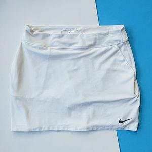 Nike Golf Dri-Fit White Tournament Skort Sz M